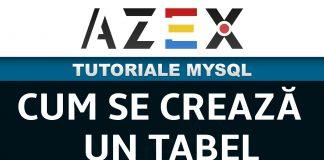 Tutoriale de MySQL - Lecția 3 - Cum se crează un tabel