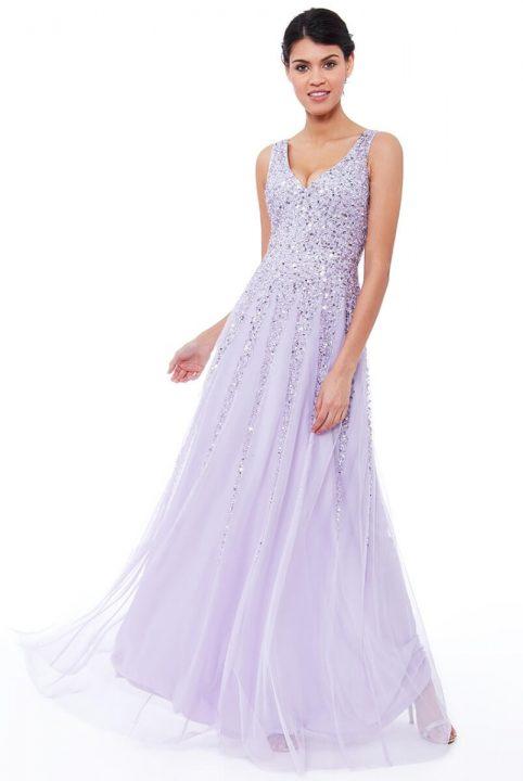 rochie lungă cu paiete