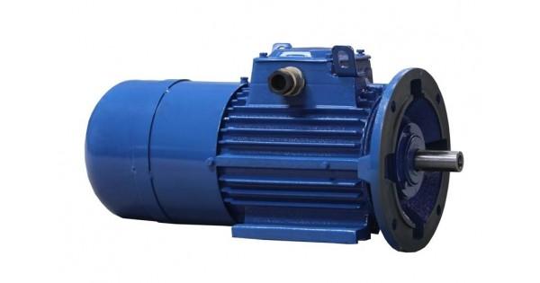 Motor electric cu frana pentru mediul industrial