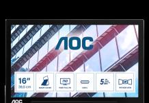 AOC lansează monitorul portabil cu conexiune hibridă USB-C și USB-A
